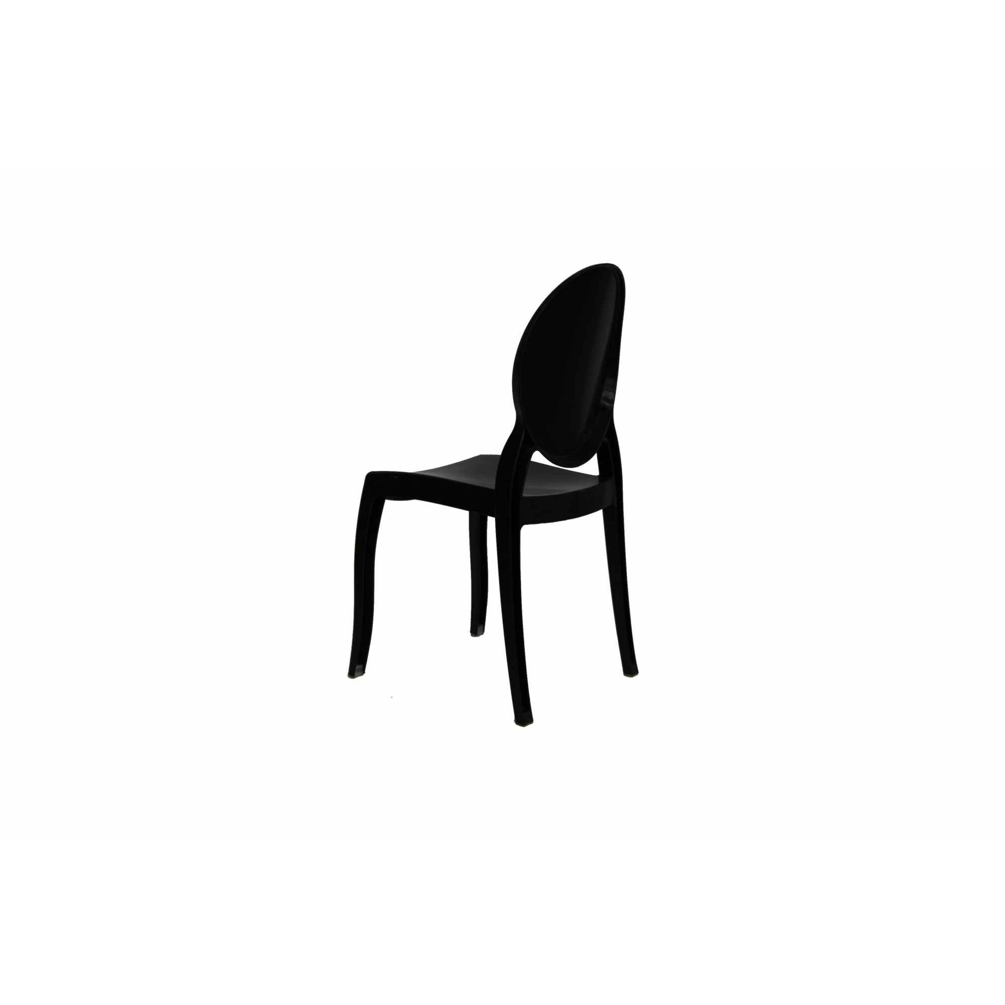 deco in paris lot de 4 chaises noir en polycarbonate tolga tolga noirx4. Black Bedroom Furniture Sets. Home Design Ideas