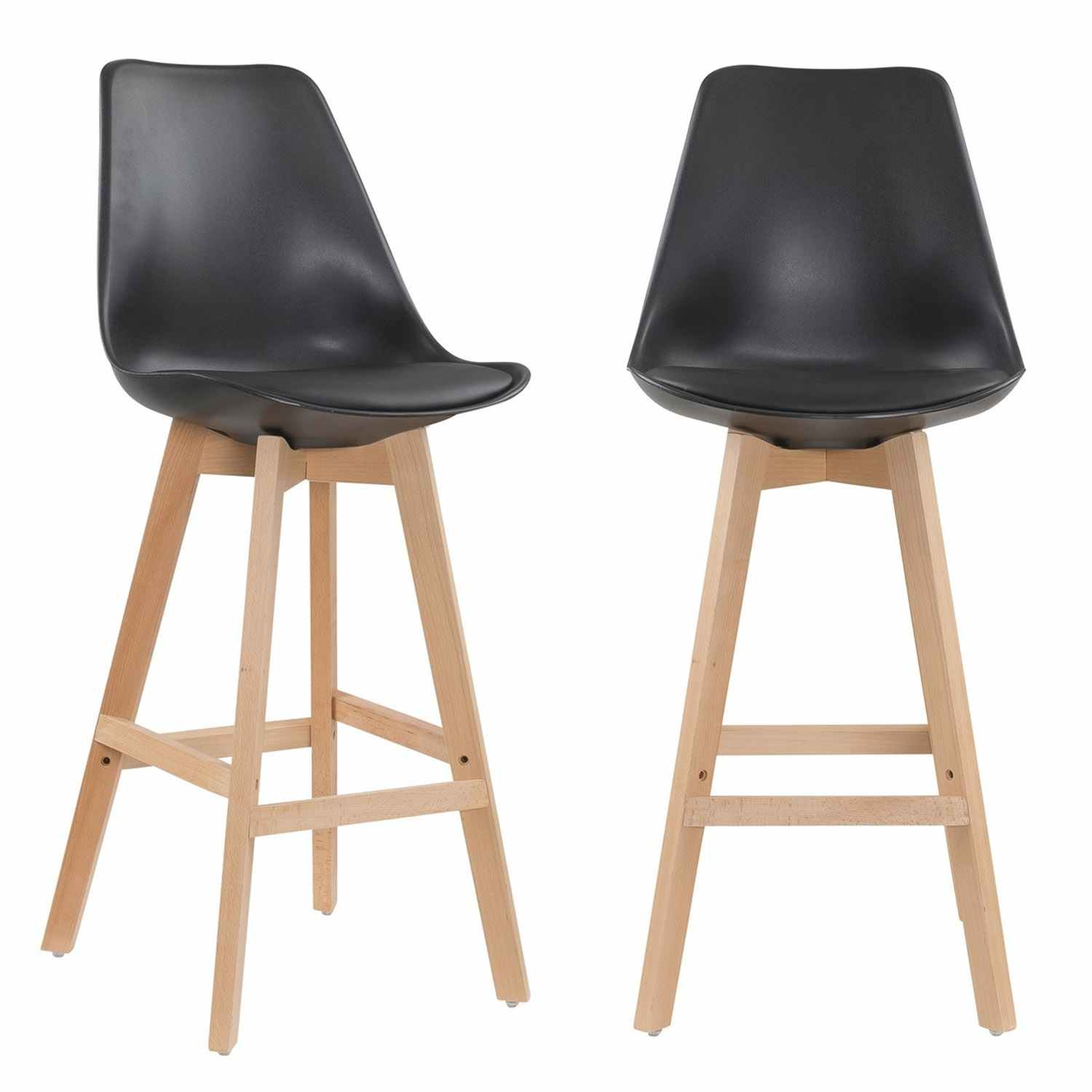 deco in paris 7 lot de 2 tabourets de bar scandinave. Black Bedroom Furniture Sets. Home Design Ideas