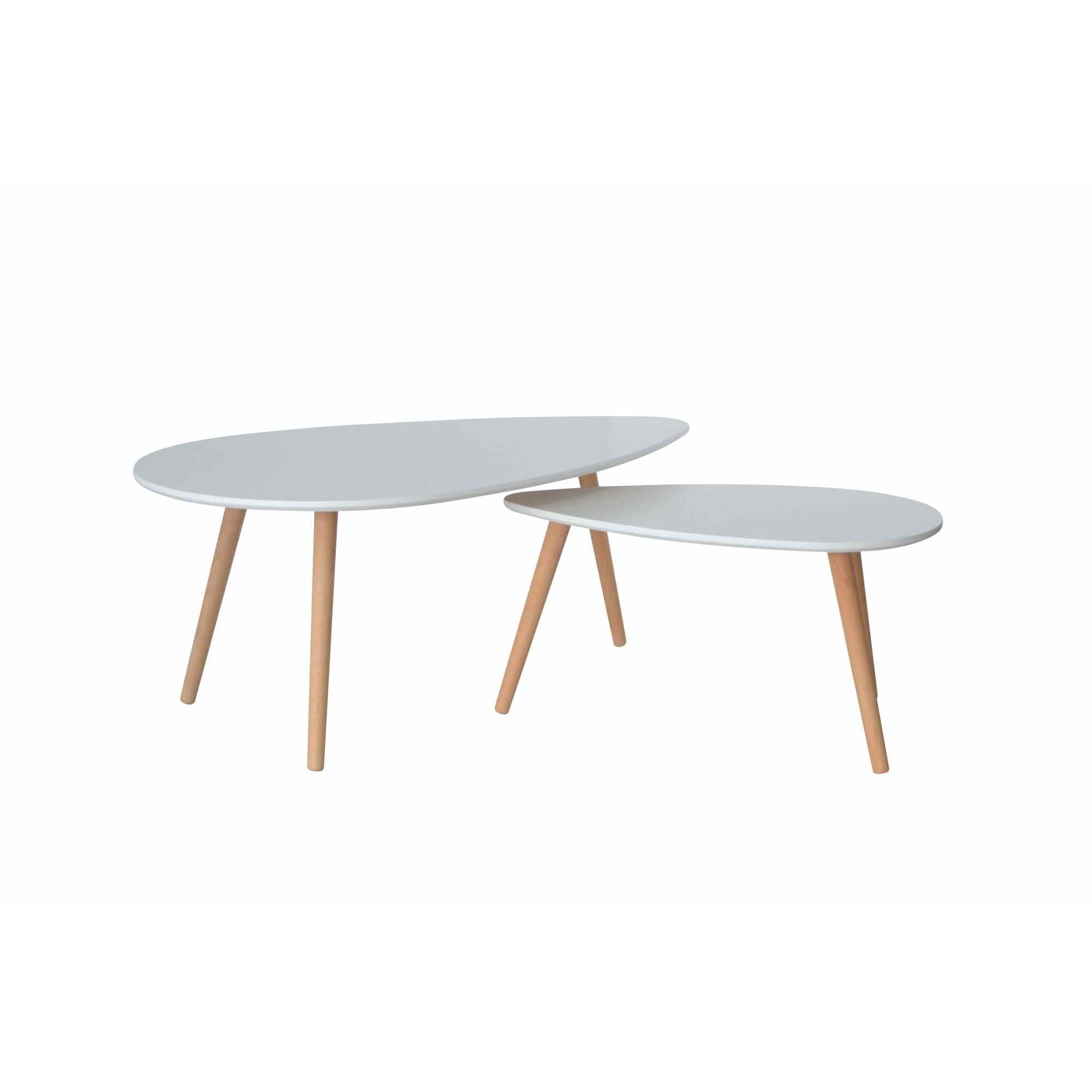 Deco in paris table basse scandinave blanc avesta avesta table base blanc - Table basse scandinave blanche ...