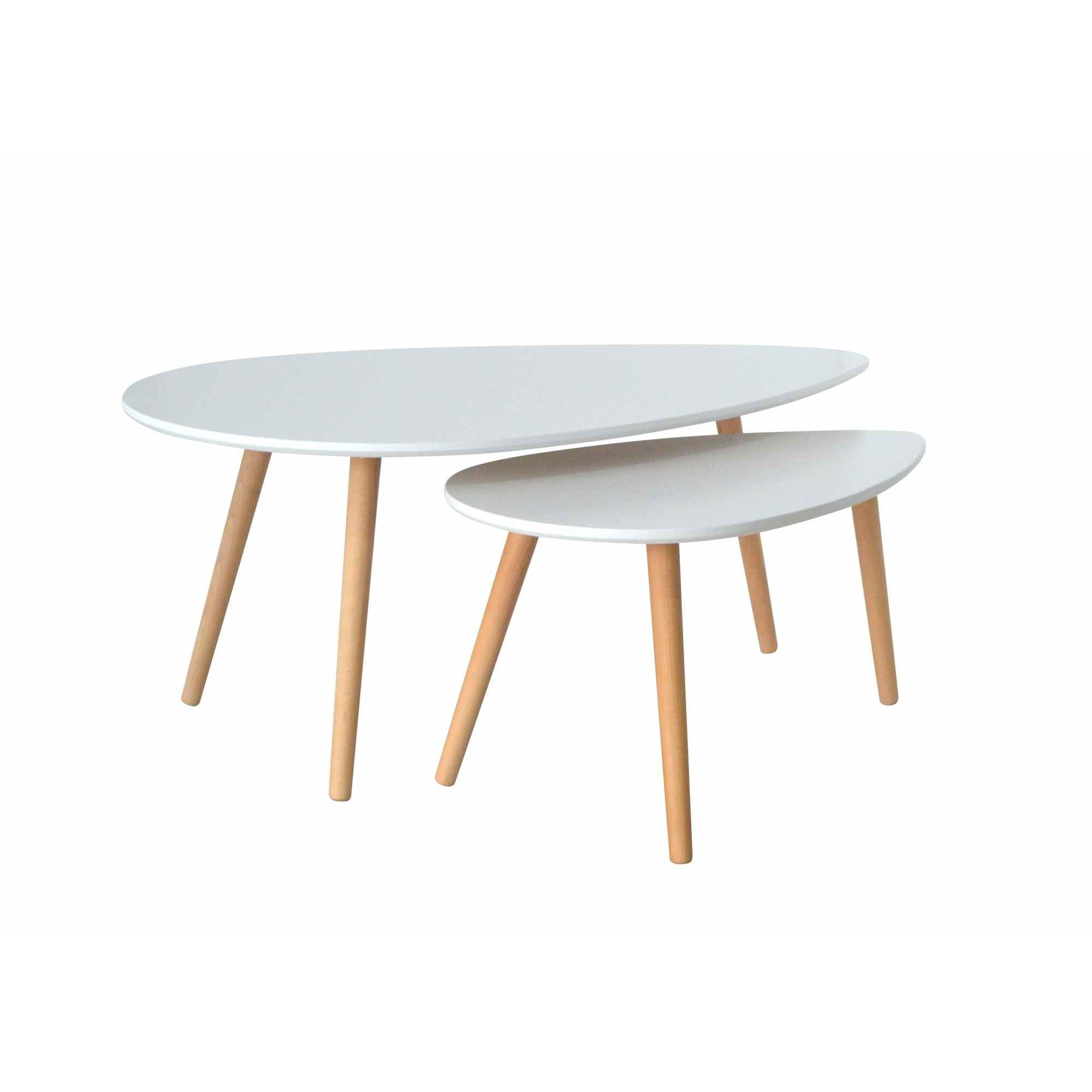 Deco in paris table basse scandinave blanc avesta avesta table base blanc - Table basse ovale scandinave ...