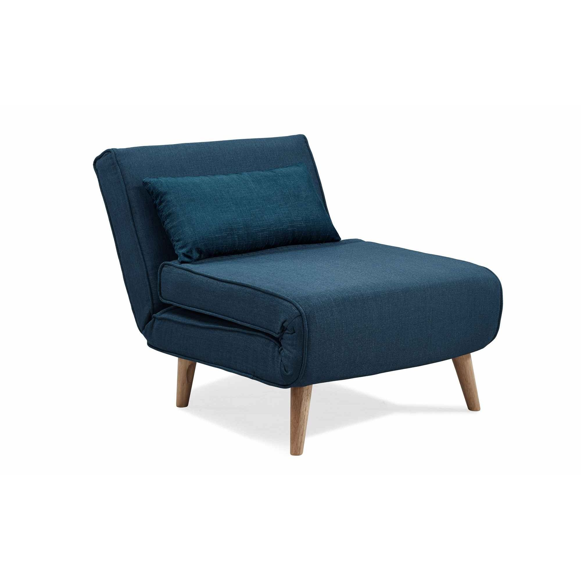 deco in paris 4 fauteuil convertible en tissu bleu tonka fauteil lit bleu tonka. Black Bedroom Furniture Sets. Home Design Ideas