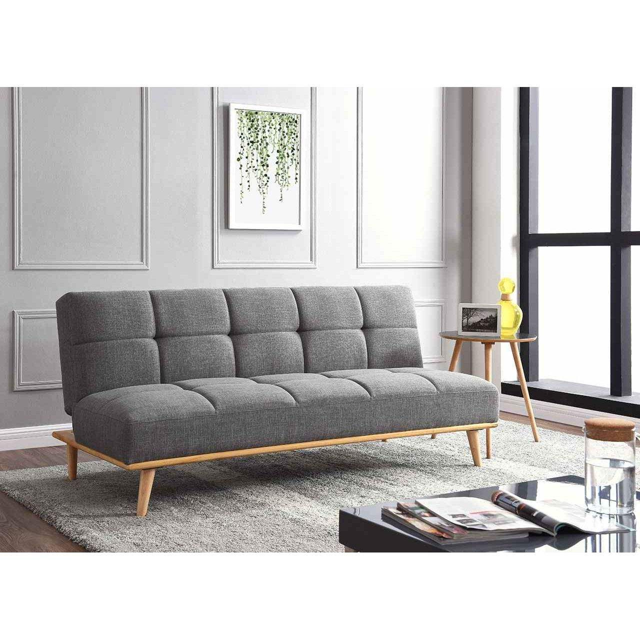 deco in paris 2 banquette clic clac scandinave 3 places gris jessy jessy clic clac gris. Black Bedroom Furniture Sets. Home Design Ideas