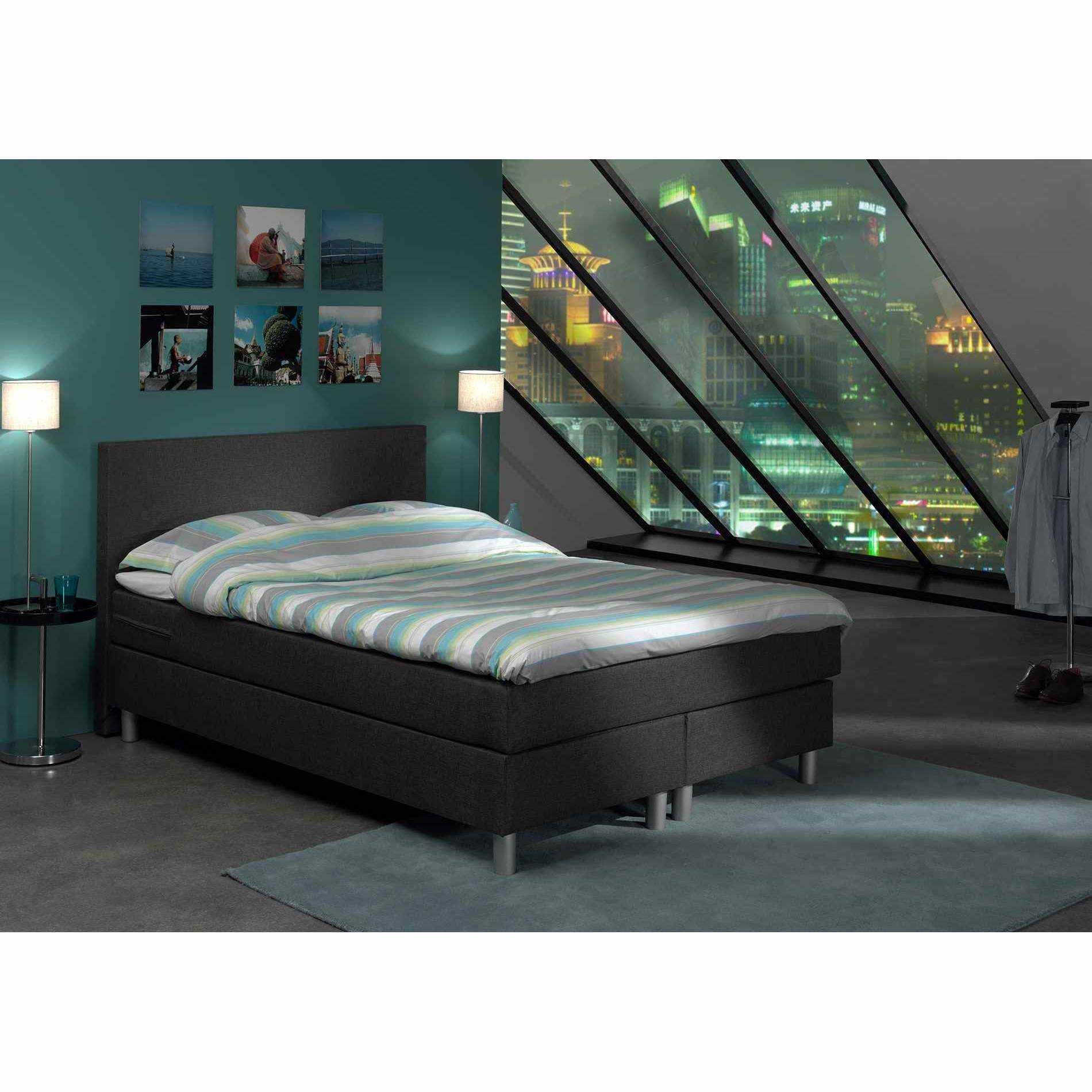 deco in paris 7 lit complet tete de lit matelas surmatelas 160 x 200 cm boxspring boxspring. Black Bedroom Furniture Sets. Home Design Ideas