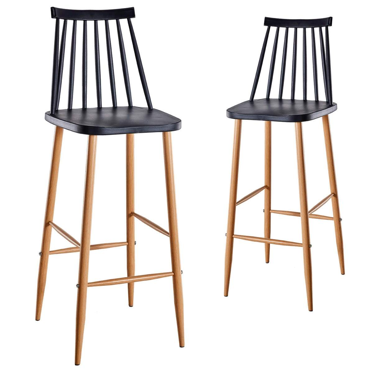 deco in paris 0 lot de 2 chaises de bar scandinaves noires berta berta tab noir. Black Bedroom Furniture Sets. Home Design Ideas