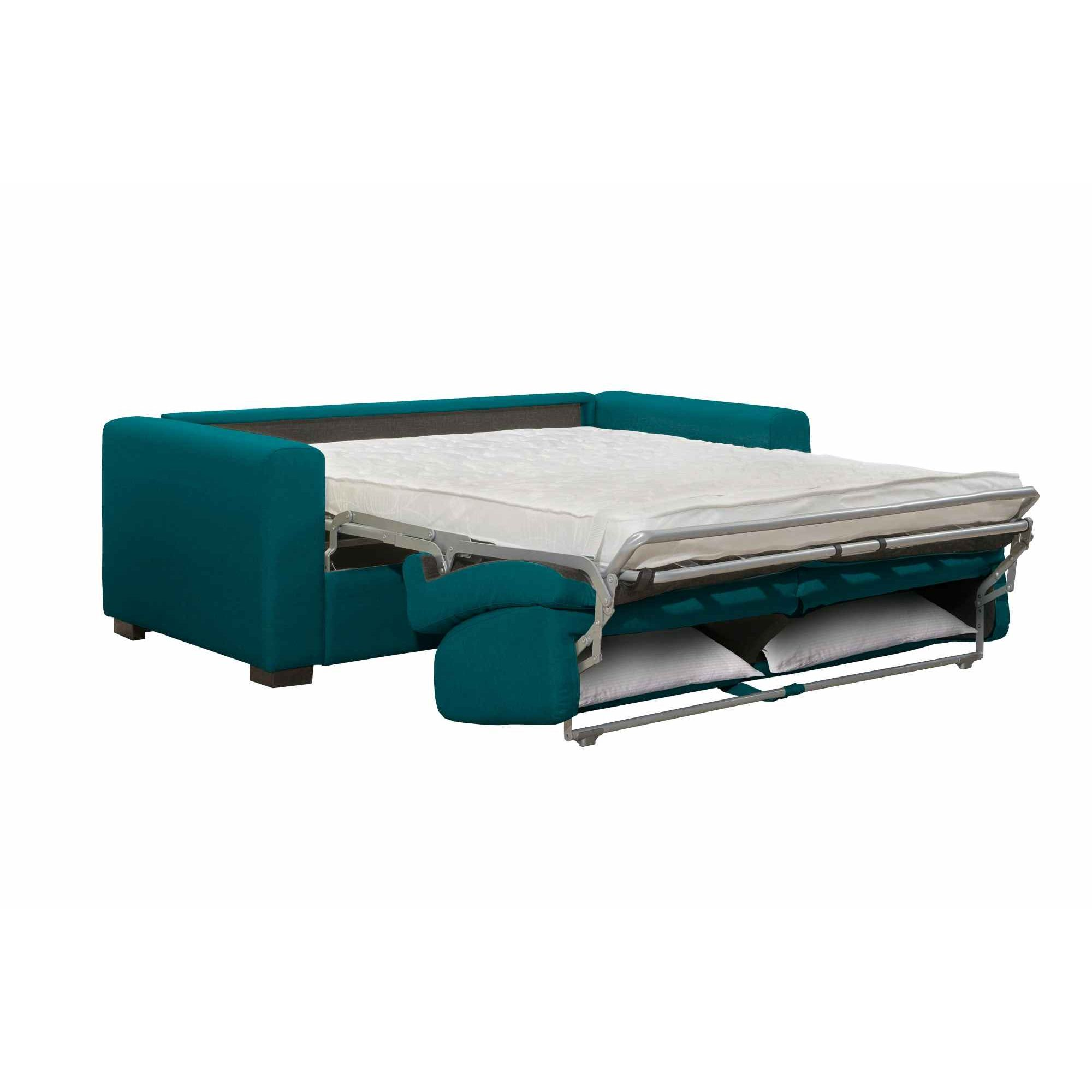 DECO IN PARIS - Canape convertible 3 places louna en tissu bleu ...