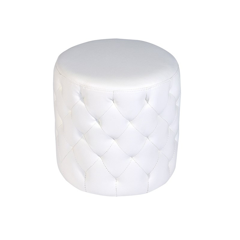 deco in paris pouf blanc capitonne venus pouf venus pu blanc. Black Bedroom Furniture Sets. Home Design Ideas