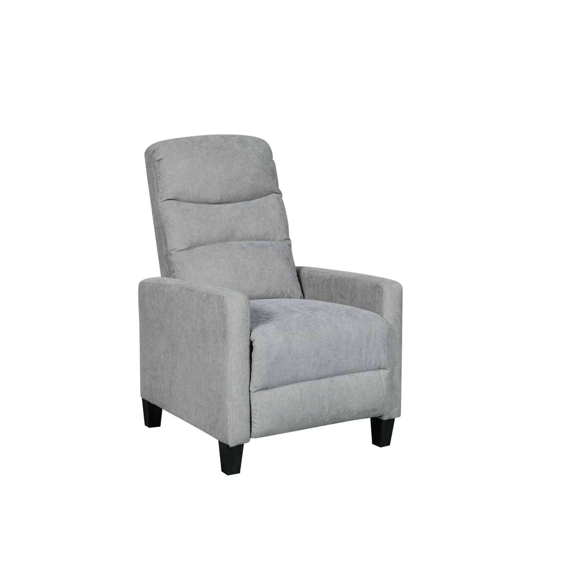deco in paris fauteuil relax en tissu gris kirian kirian gris. Black Bedroom Furniture Sets. Home Design Ideas