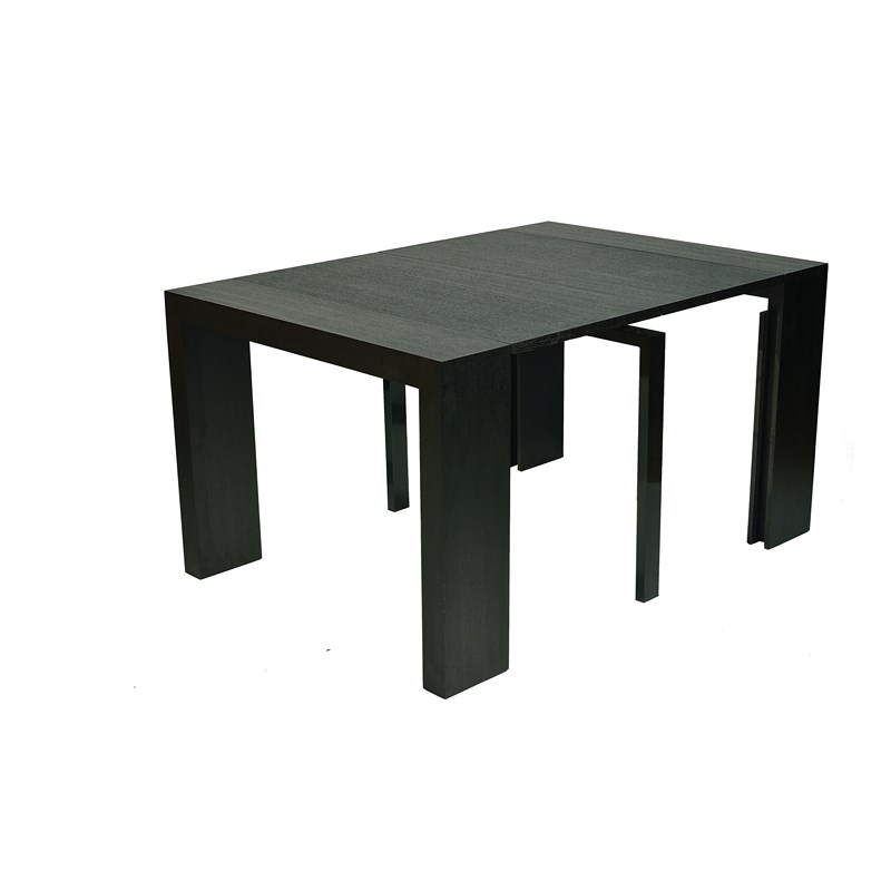 deco in paris table console extensible wenge 4 rallonges. Black Bedroom Furniture Sets. Home Design Ideas