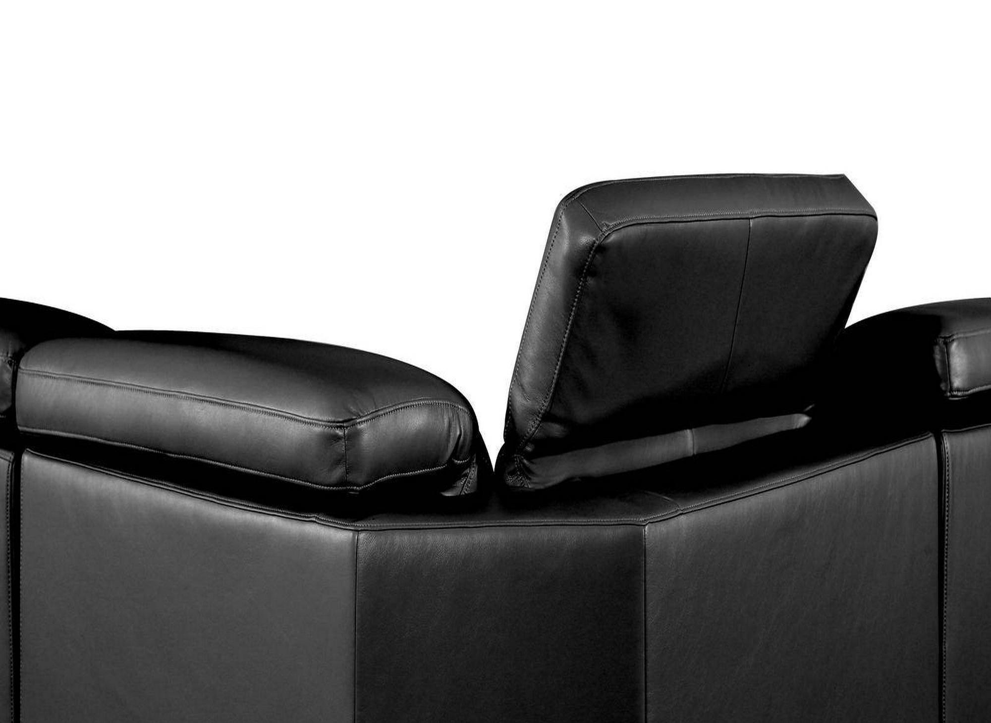 Canapé d'angle relax électrique noir ORLANDO - Angle Droit