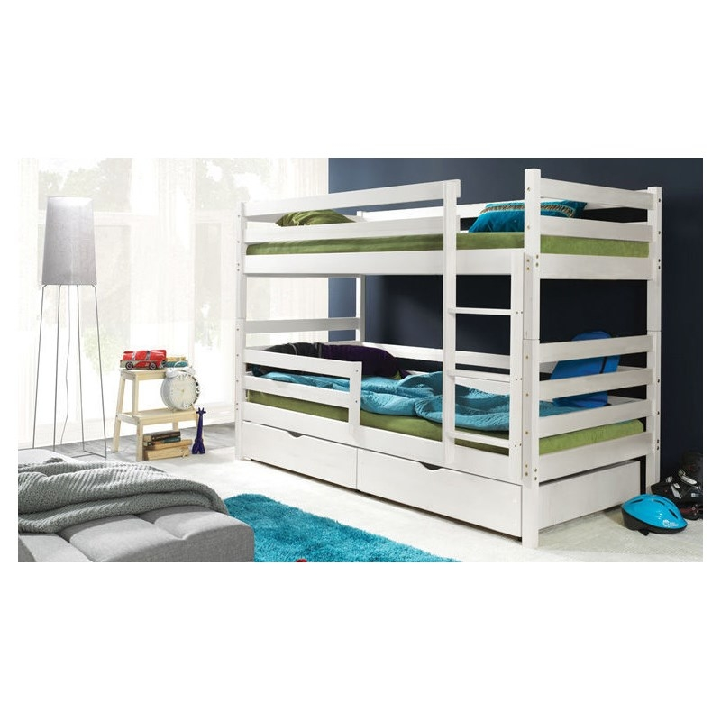deco in paris lits superposes en bois blanc mathilde pologne. Black Bedroom Furniture Sets. Home Design Ideas