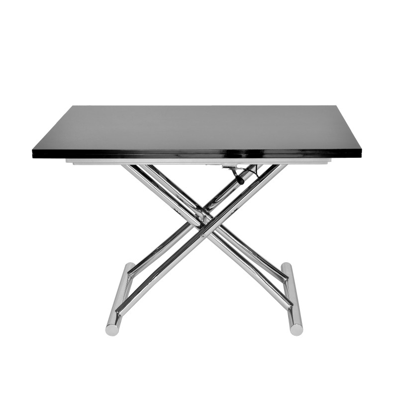 Accueil table table relevable table basse relevable rallonge noir laqu 140 - Table basse relevable rallonge ...