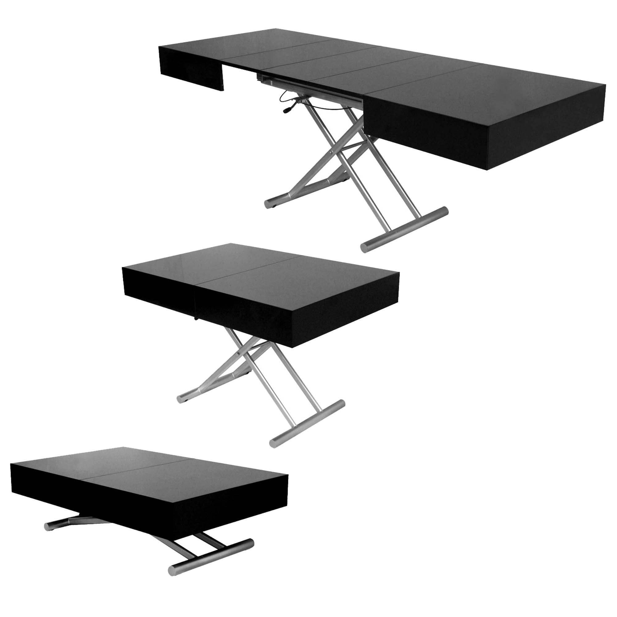 deco in paris table basse relevable extensible laquee. Black Bedroom Furniture Sets. Home Design Ideas