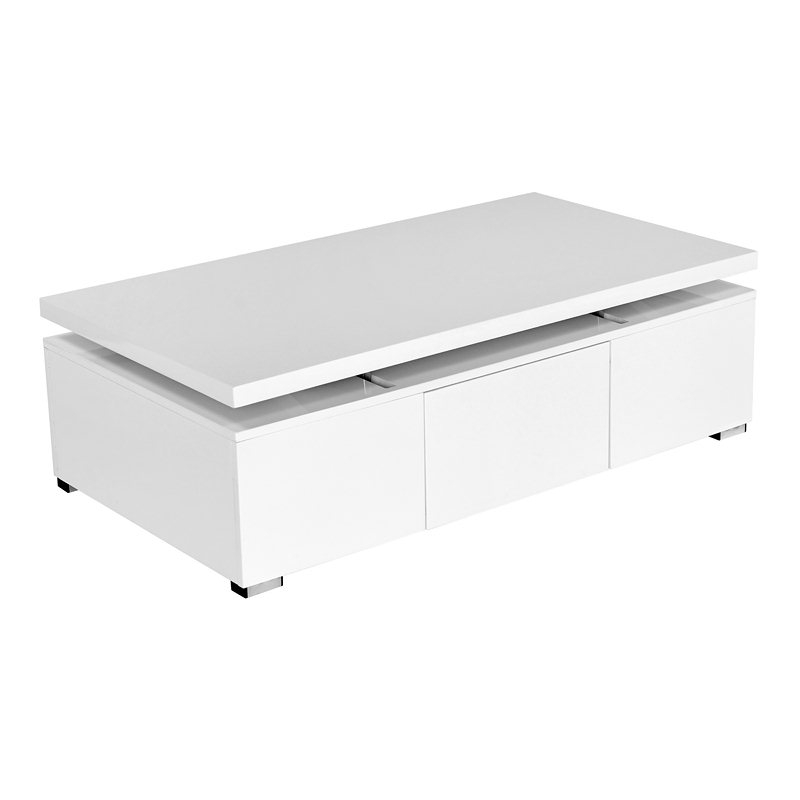 Table Basse Laqu E Blanc Plateau Pivotant Stand Pictures To Pin On Pinterest