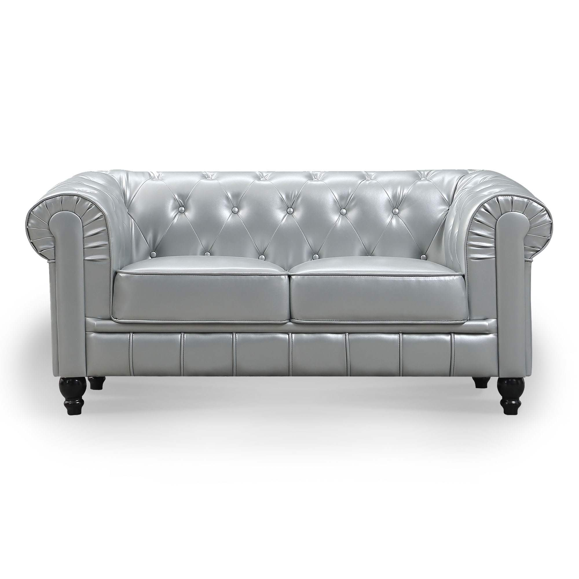 Canapé 2 places Argent CHESTERFIELD