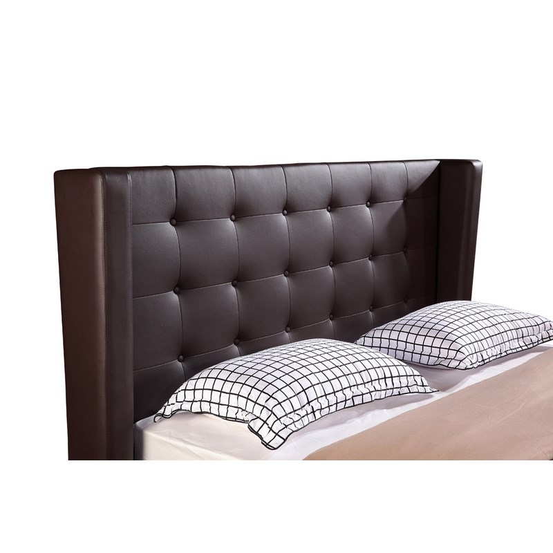 deco in paris lit coffre 180 cm marron avec rangement. Black Bedroom Furniture Sets. Home Design Ideas