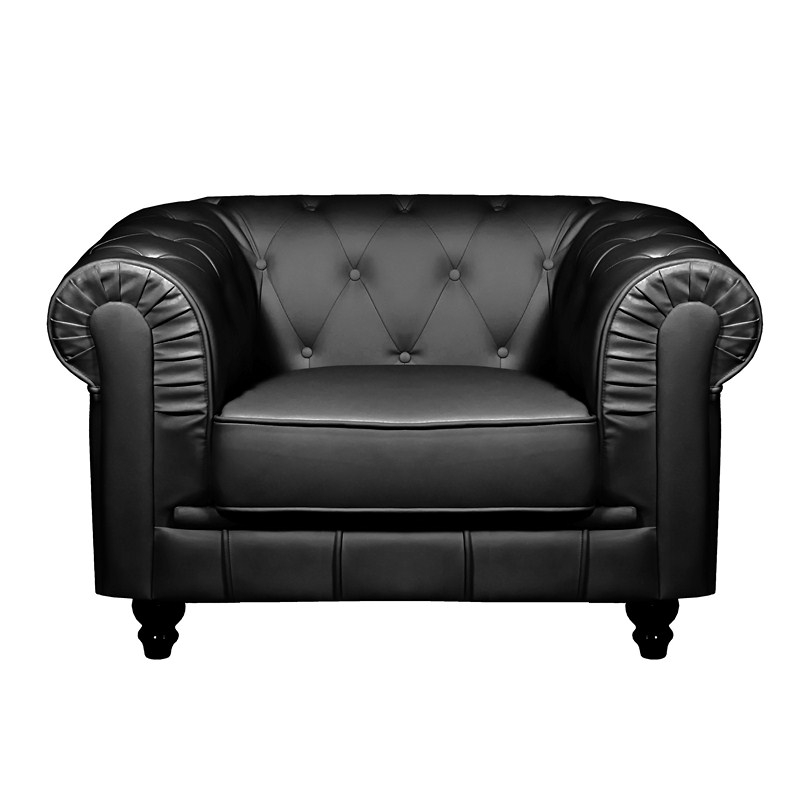 Deco in paris - Fauteuil chesterfield noir ...