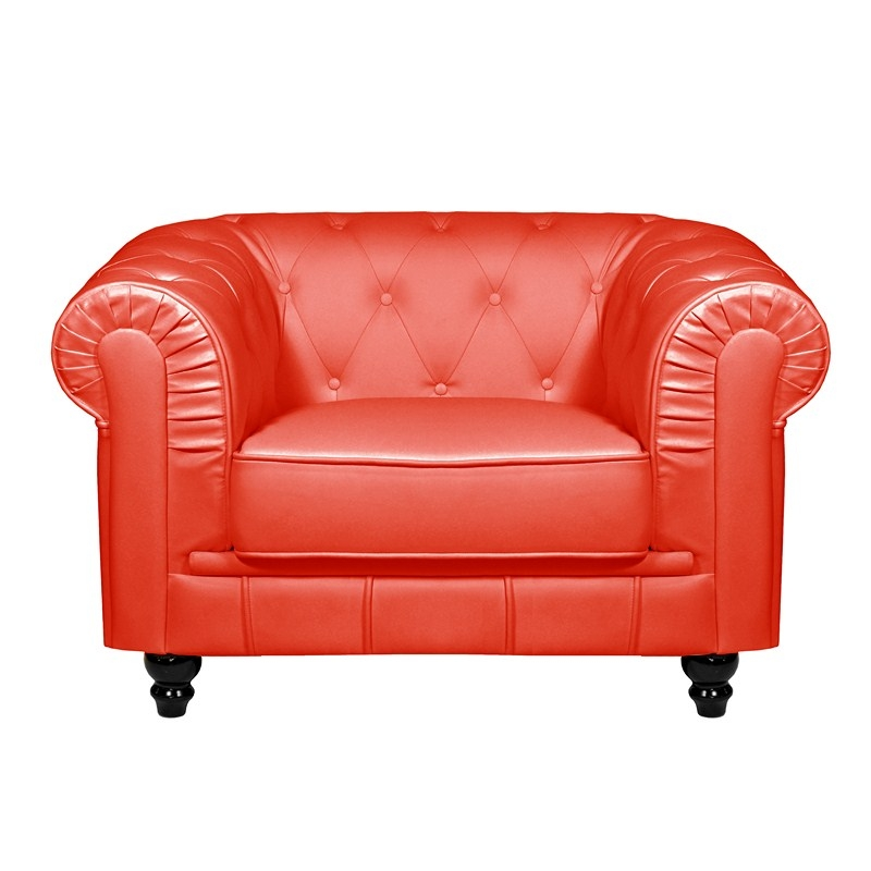 Fauteuil Rouge CHESTERFIELD