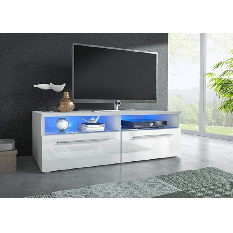 Deco in paris meuble tv bas design lumiere led meuble tv - Meuble tv avec lumiere ...