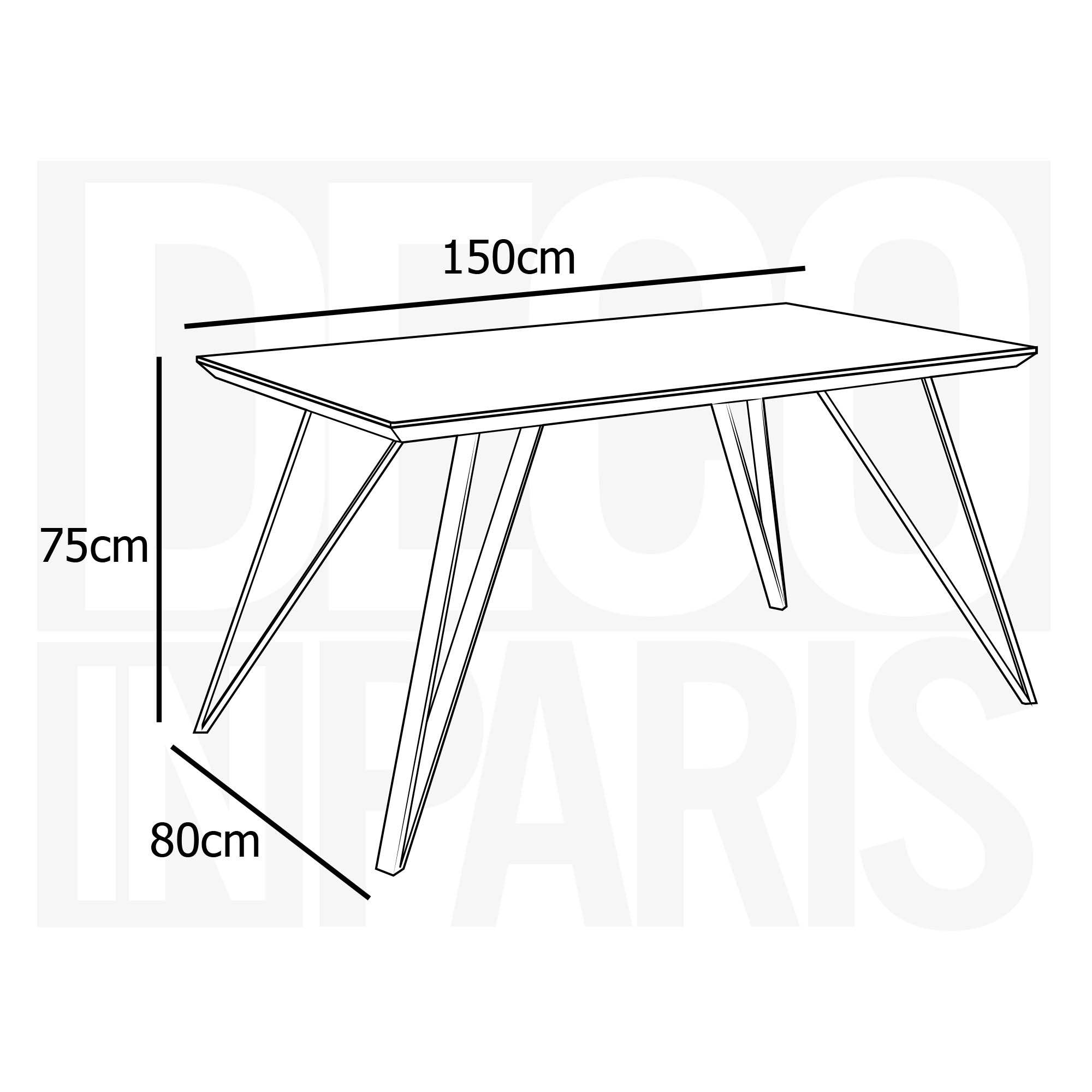 Table à manger design en bois KEVAN