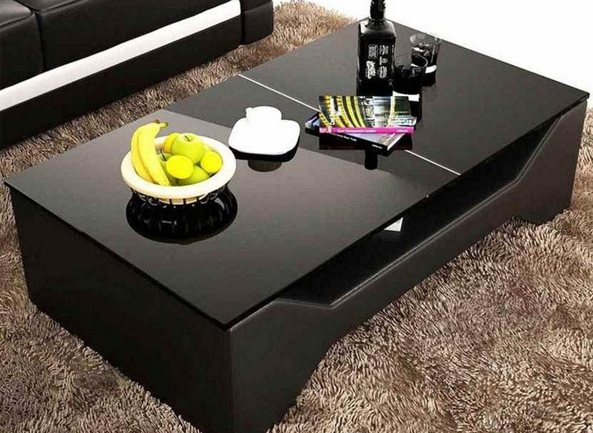 Table basse design noir CELIA