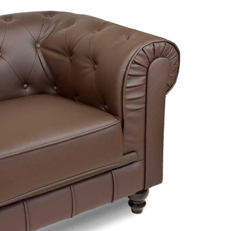 Canapé 3 places Marron CHESTERFIELD