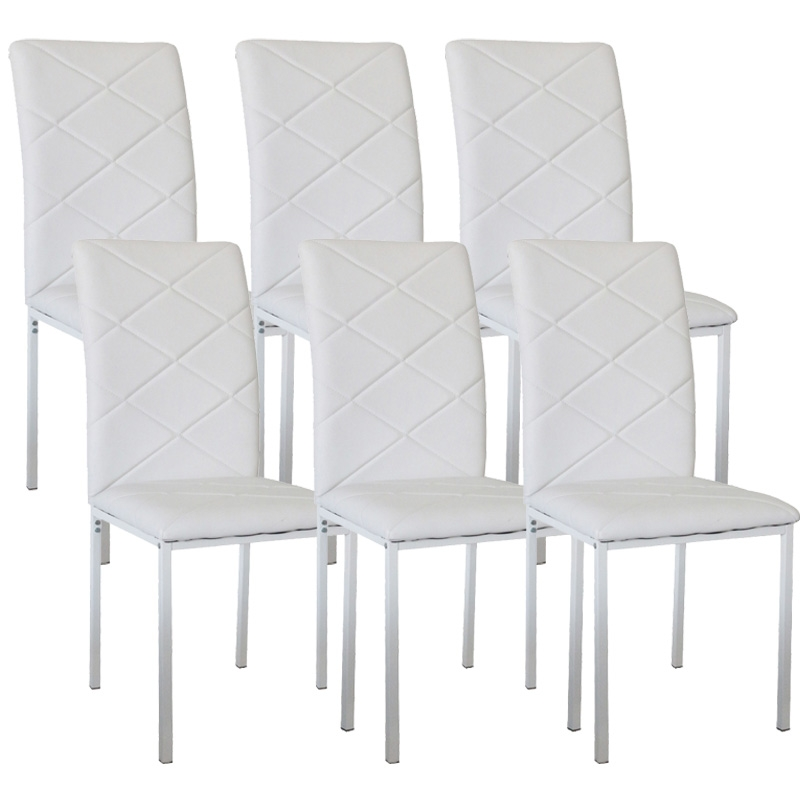 deco in paris lot de 6 chaises blanche ray ch 6 ray blanc. Black Bedroom Furniture Sets. Home Design Ideas