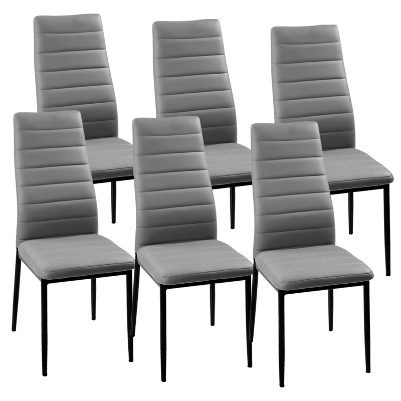 Deco in paris lot de 6 chaises gris iris iris grisx6 - Lot de 6 chaises grises ...