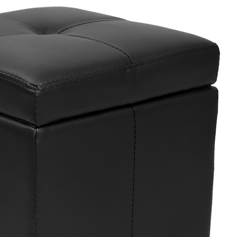 deco in paris pouf coffre noir hary pouf coffre noir. Black Bedroom Furniture Sets. Home Design Ideas