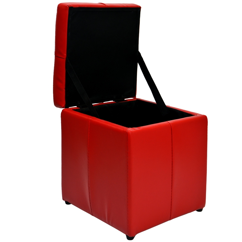 deco in paris pouf coffre rouge hary pouf coofre rouge. Black Bedroom Furniture Sets. Home Design Ideas