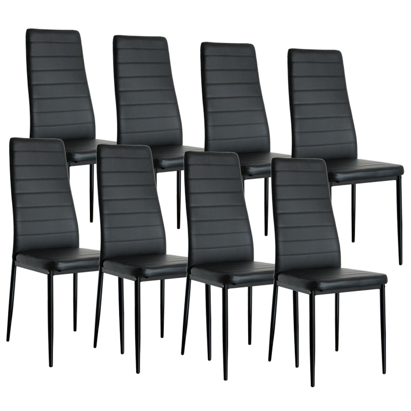 deco in paris lot de 8 chaises noir iris lot 8 chaise. Black Bedroom Furniture Sets. Home Design Ideas
