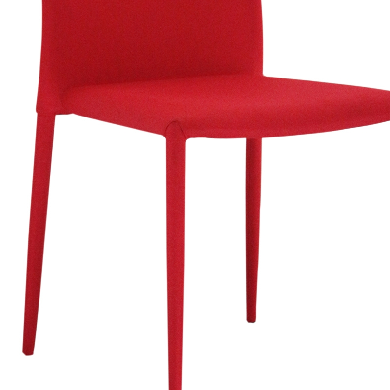 deco in paris lot de 8 chaises rouge lola lola rouge x8. Black Bedroom Furniture Sets. Home Design Ideas