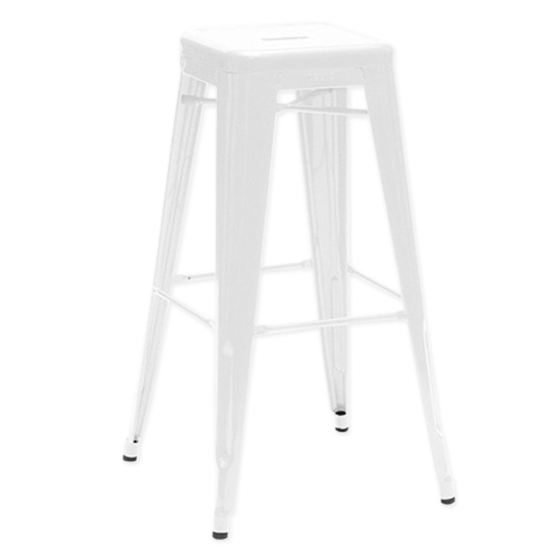 deco in paris tabouret de bar en metal blanc laque king lot de 4 tabouret x4 fer king blanc. Black Bedroom Furniture Sets. Home Design Ideas