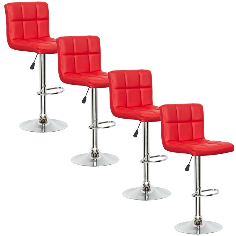 deco in paris lot de 4 tabourets de bar rouge scalo tab rouge lot4 scalo. Black Bedroom Furniture Sets. Home Design Ideas