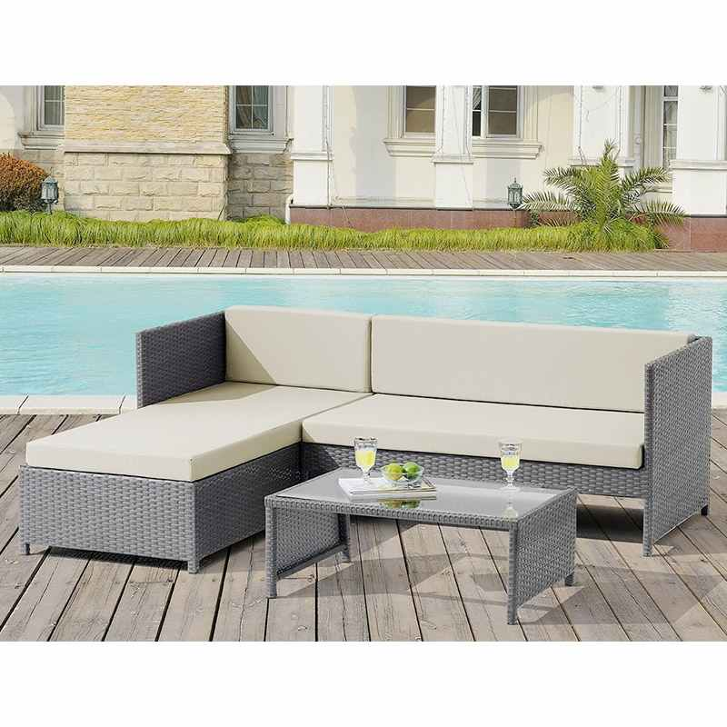 deco in paris canape d angle table basse en resine tressee gris hawai hawai angle gris. Black Bedroom Furniture Sets. Home Design Ideas