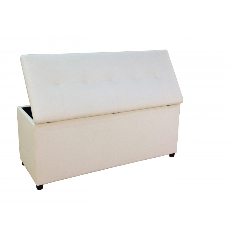 deco in paris banquette coffre capitonnee blanc lisa banq lisa pu blanc. Black Bedroom Furniture Sets. Home Design Ideas