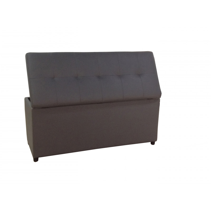 deco in paris banquette coffre capitonnee grise lisa banq lisa pu gris. Black Bedroom Furniture Sets. Home Design Ideas