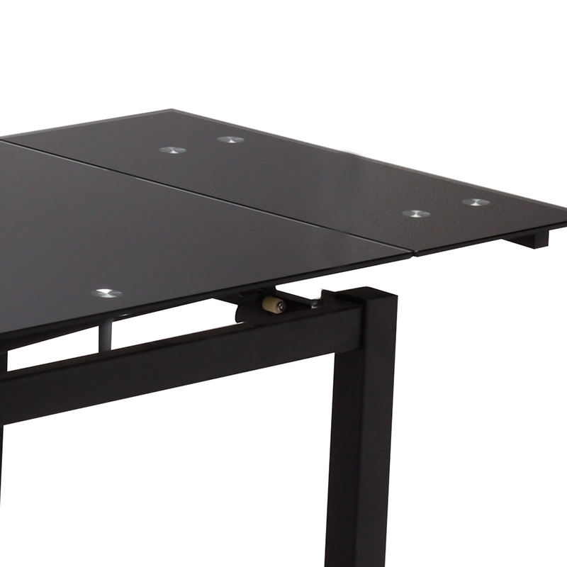 Deco in paris table a manger extensible noire gisborne for Table a manger noir