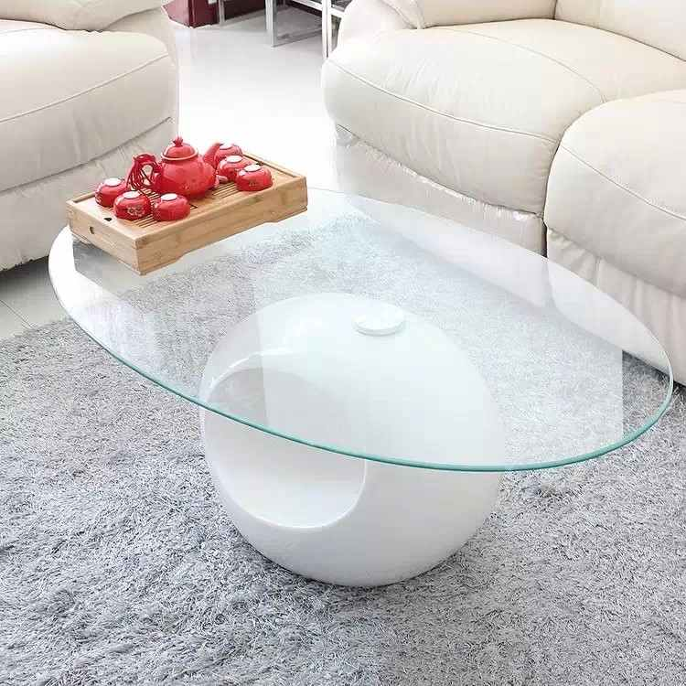 Table Basse Blanche Verre.Table Basse Design Blanche En Verre Maxus
