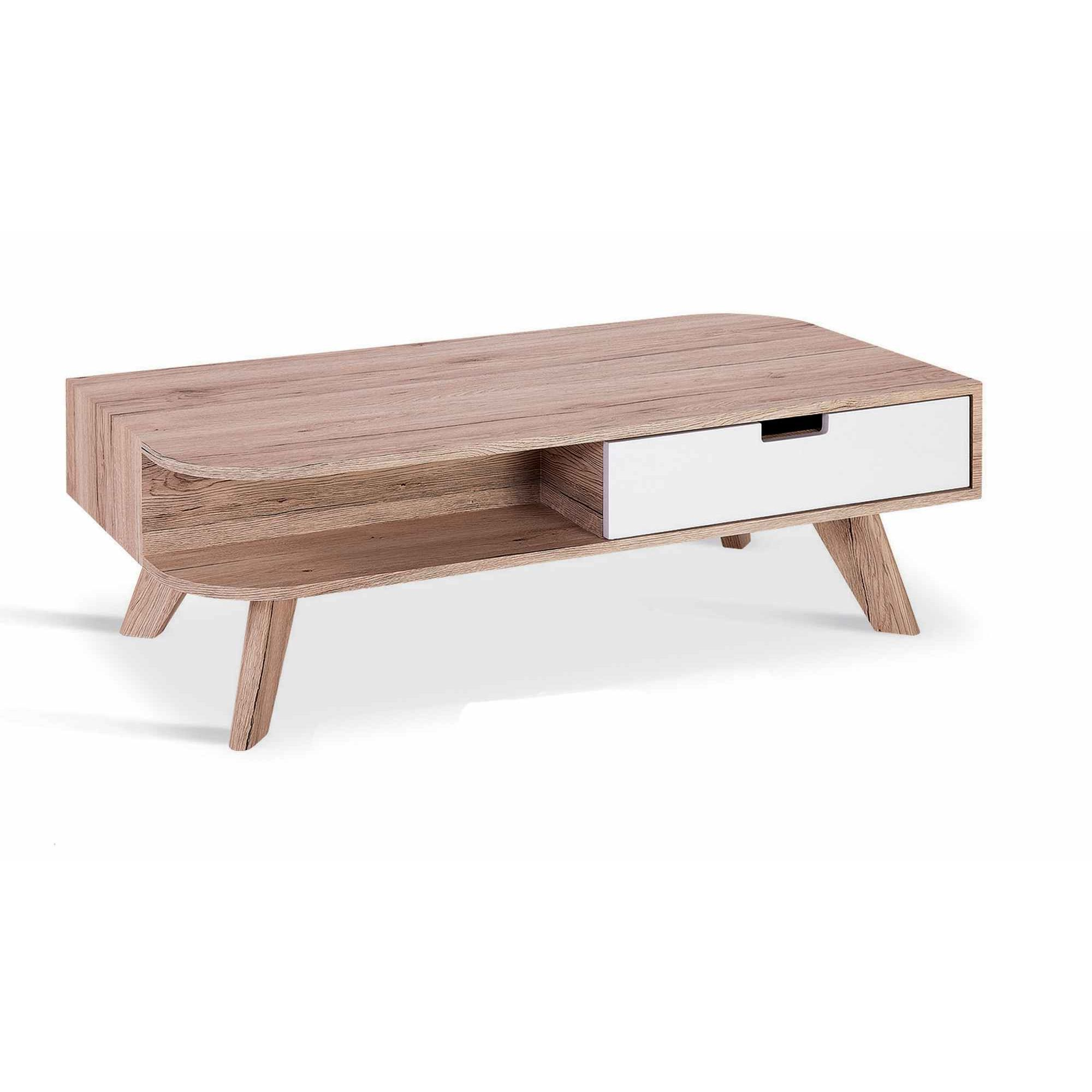 Deco In Paris Table Basse Scandinave En Bois Timaru Avec Tiroir  # Table Basse Scandinave Laque