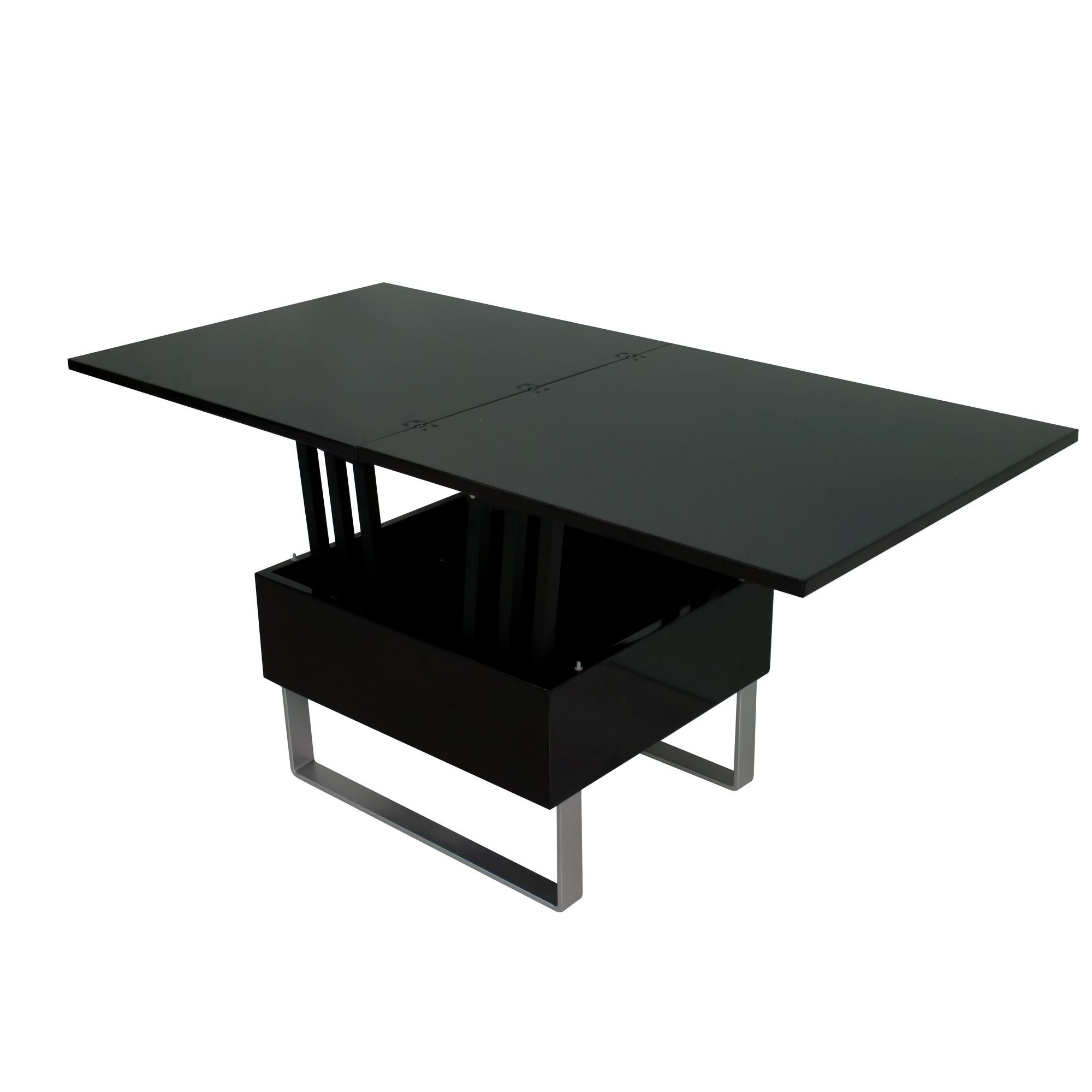 Table basse noir laque ikea maison design for Table basse design noir