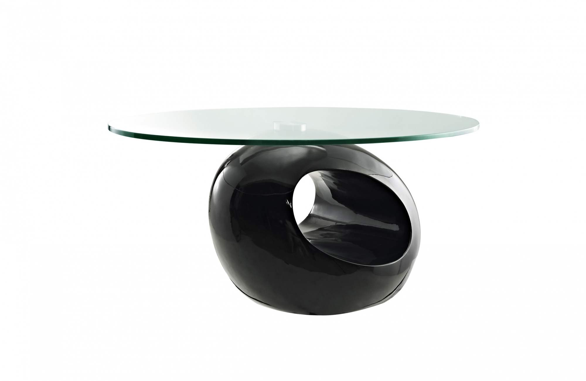 Table basse desing noir for Table basse en verre noir