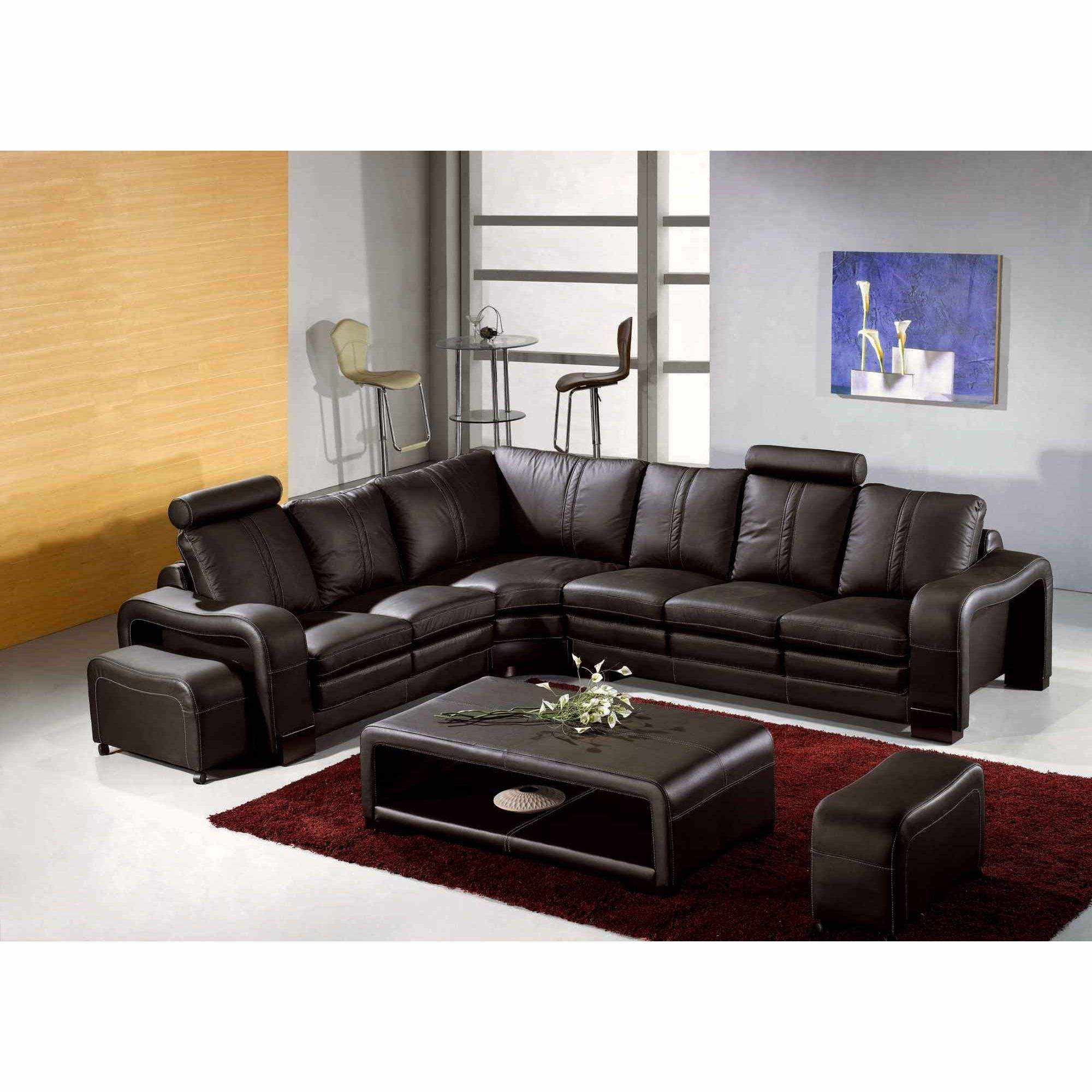 deco in paris canape d angle en cuir marron avec appuie. Black Bedroom Furniture Sets. Home Design Ideas