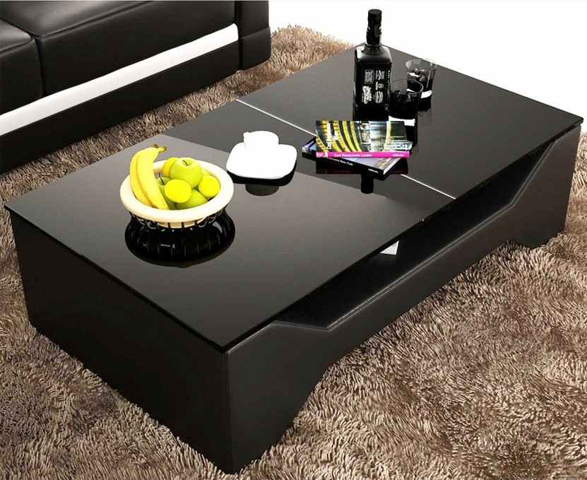 Deco in paris 0 table basse design noir celia celia noir for Table basse noire design
