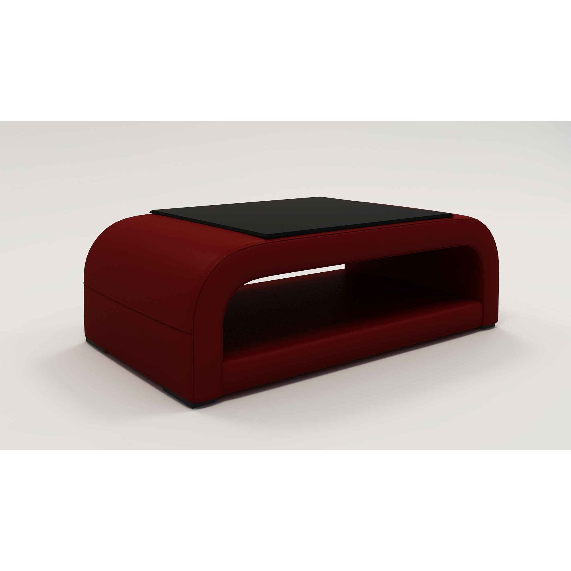 deco in paris table basse design rouge nelly nelly rouge tab basse. Black Bedroom Furniture Sets. Home Design Ideas