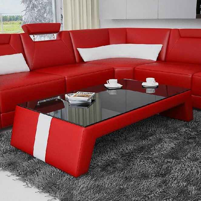 deco in paris 8 table basse design rouge et blanc taly. Black Bedroom Furniture Sets. Home Design Ideas