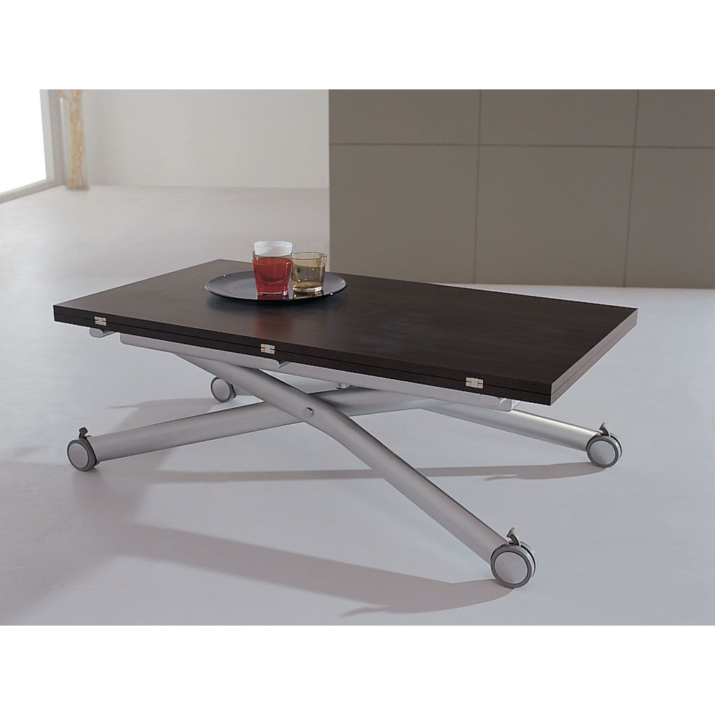 Table basse relevable bois wenge for Table basse bois relevable