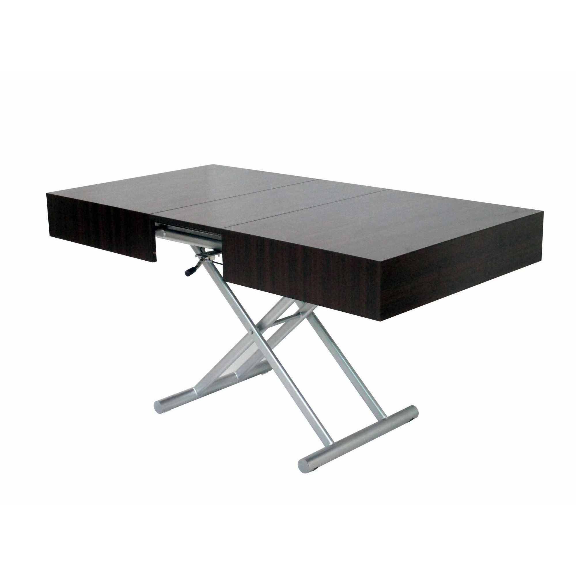 Deco in paris table basse relevable extensible wenge for Table basse relevable wenge