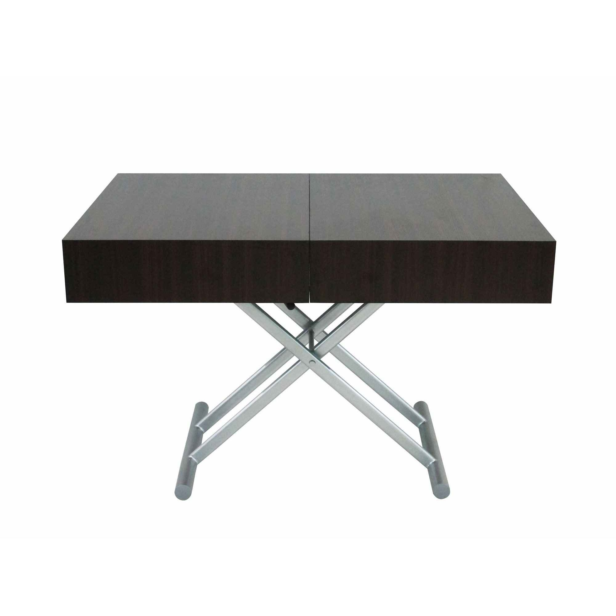 Deco in paris table basse relevable extensible wenge smart xxl smart wenge xxl - Table basse relevable wenge ...