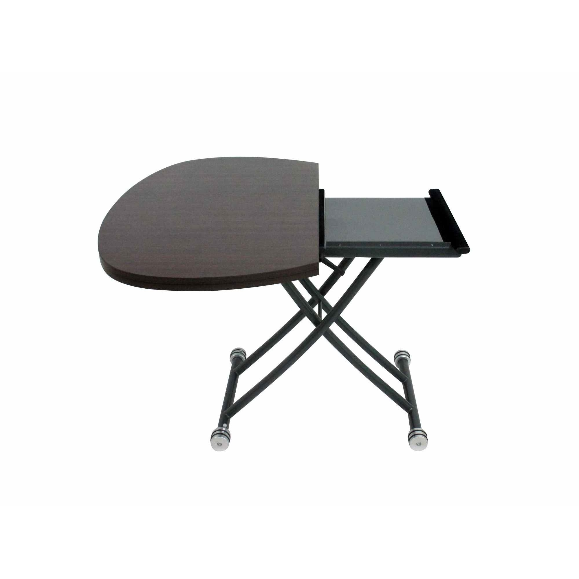 Deco in paris table basse relevable a rallonge wenge - Table basse relevable avec rallonge ...