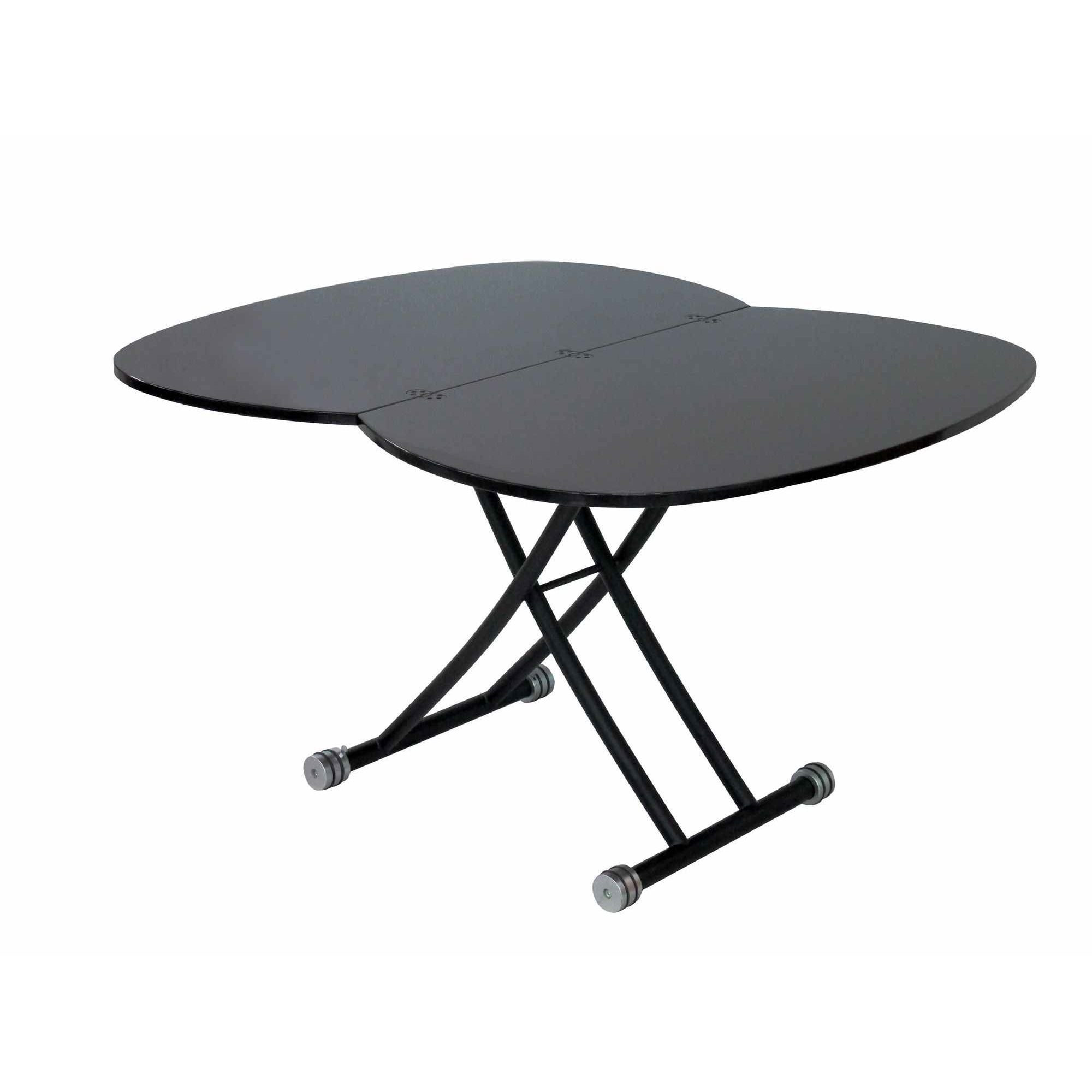 Table basse relevable avec rallonge maison design for Table noir rallonge
